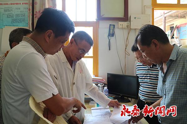 市人大常委会副主任林峰带队来我县调研健康扶贫工作