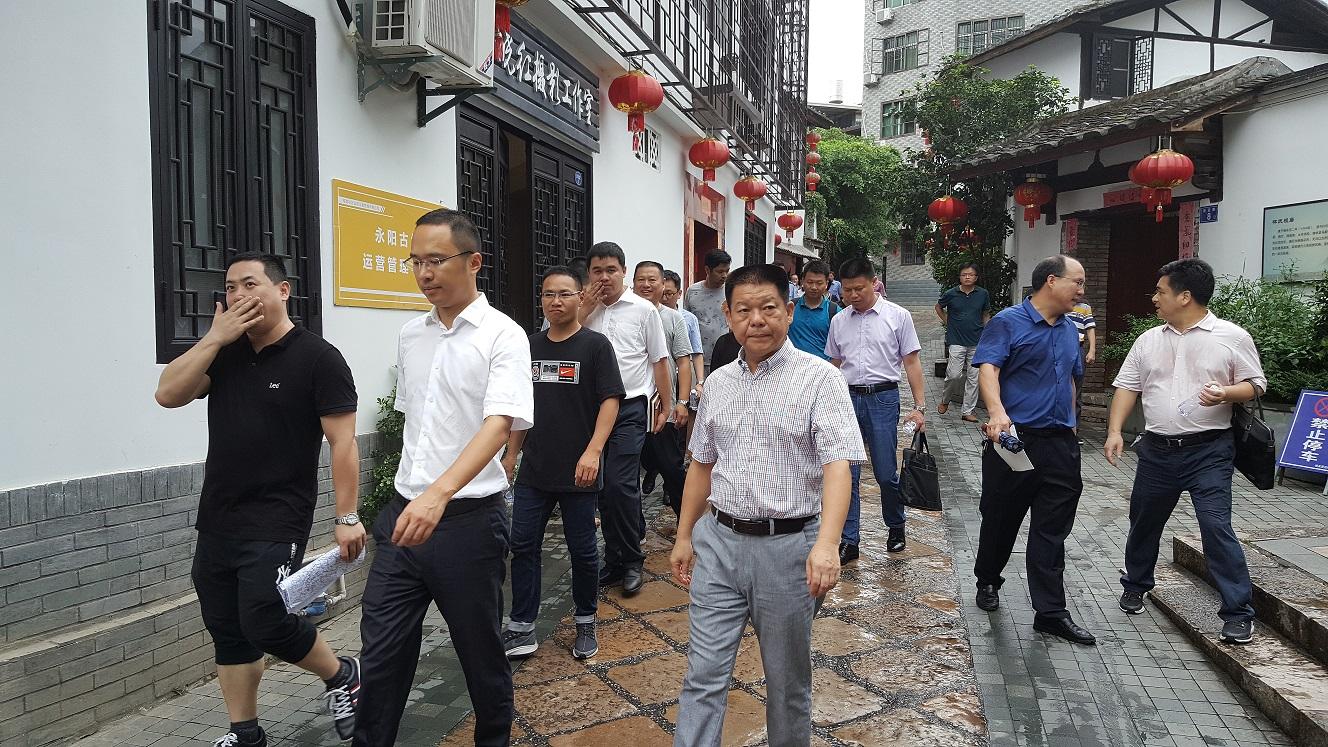 雷连鸣县长莅临樟城镇永阳文化古街检查指导工作